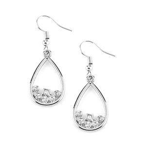 Raindrop Radiance Earrings - White
